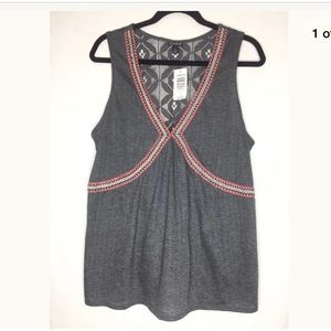 Torrid Gray Embroidered Tank Top